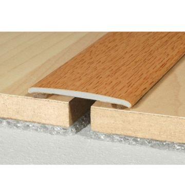 Wood effect Aluminum Treshold 35mm x 2mm A08 Self Adhesive Wood effect