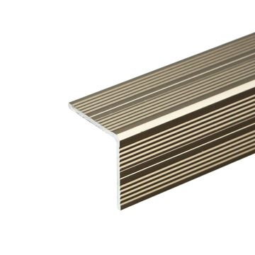 Anodised Aluminium Stair Nosing 25mm x 25mm A40 Self Adhesive