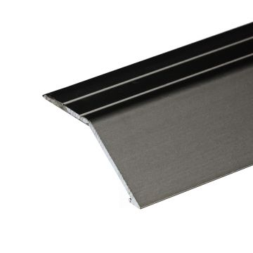 Anodised Aluminium Ramp 41mm x 16mm A47 Self Adhesive