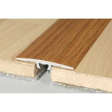 Wood effect Aluminium Treshold 36mm x 2mm A68 Screw