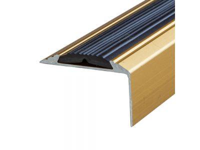 Anti-Slip Anodised Aluminium Stair Nosing 46mm x 30mm A38 Self Adhesive
