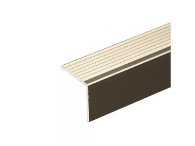 Anodised Aluminium Stair Nosing 19.5mm x 20mm A30 Screw