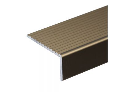 Anodised Aluminum Stair Nosing 40mm x 20mm A33 Screw