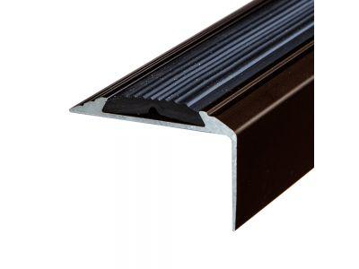 Anti-Slip Anodised Aluminium Stair Nosing 46mm x 30mm A38 Screw